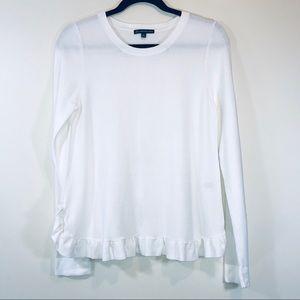 Adrianna Papell Ruffle Hem Sweater - #1126